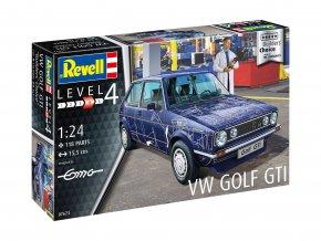 """Revell - VW Golf Gti """"Builders Choice"""", Plastic ModelKit  07673, 1/24"""