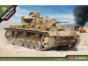 "Akademy - German Panzer III Ausf.J ""North Africa"", Model Kit 13531, 1/35"