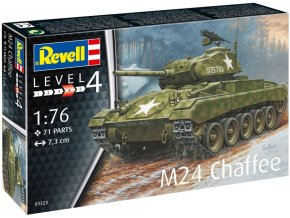 Revell - M24 Chaffee, Plastic Model Kit 03323, 1/76