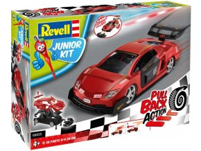 Revell - Pull Back Racing Car - červené, Junior Kit 00835, 1/20