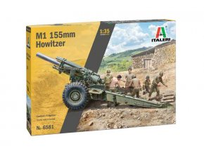 Italeri - M1 155mm Howitzer, Model Kit 6581, 1/35
