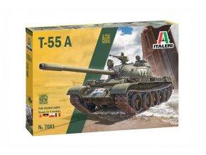 Italery -  T-55 A, Model Kit 7081, 1/72