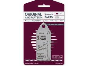 39120 avt052 a340 qatar cardboard 1