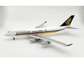 WB Models - Boeing B747-412, dopravce Singapore Airlines 9V-SPQ, Singapur, 1/200