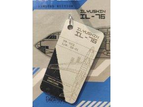 Fuselage Creations - přívěsek ze skutečného letadla Ilyushin IL-76 UR-UCQ bílo-modrý