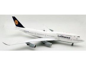 J Fox Models - Boeing B747-400, společnost Lufthansa D-ABVZ, Německo, 1/200