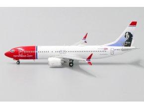 """JC Wings - Boeing B737 MAX 8, dopravce Norwegian """"Oscar Wilde Livery"""" LN-BKA, Norsko, 1/400"""