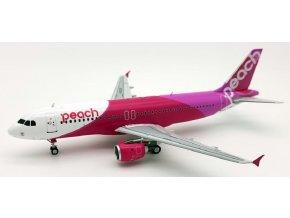 J Fox Models - Airbus A320-200, společnost Peach Aviation JA828P, Japonsko, 1/200