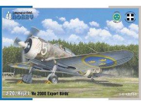 Special Hobby - Reggiane Re2000/ J-20/Héja I 'Re 2000 Export Birds', Model Kit SH48208, 1/48