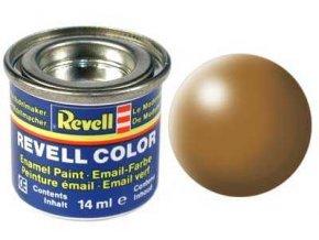Revell - Barva emailová 14ml - č. 382 hedvábná lesní hnědá (wood brown silk), 32382