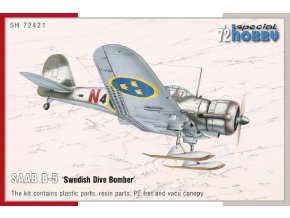 "Special Hobby - Saab B5 'Swedish Dive bomber"", Model Kit SH72421, 1/72"