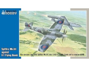 Special Hobby - Supermarine Spitfire MkXII against V1 Flying Bomb, Model Kit SH48192, 1/48