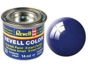 Revell - Barva emailová 14ml - č. 51 lesklá ultramarínová modrá (ultramarine-blue gloss), 32151