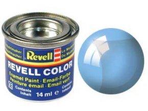 Revell - Barva emailová 14ml - č. 752 transparentní modrá (blue clear), 32752