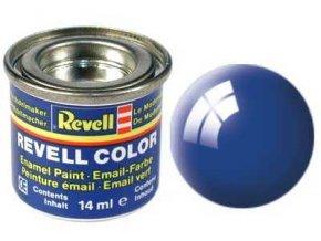 Revell - Barva emailová 14ml - č. 52 lesklá modrá (blue gloss), 32152