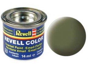 Revell - Barva emailová 14ml - č. 68 matná tmavě zelená (dark green mat RAF), 32168
