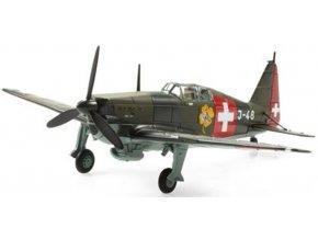 """Swiss Line Collection - FAA D-3800, švýcarské letectvo, J-48 """"Hexe"""", 1940, Švýcarsko, 1/72"""