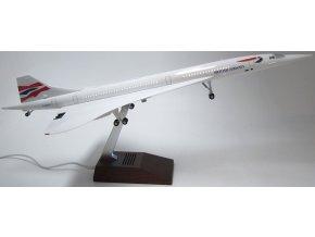 Led Model Inc - Aérospatiale-BAC Concorde s LED osvětlením, společnost British Airways, G-BOAC, Velká Británie, 1/125