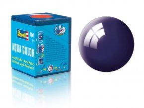 Revell - Barva akrylová 18 ml -č. 54 lesklá noční modrá (night blue gloss), 36154