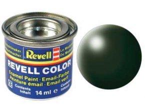Revell - Barva emailová 14ml - č. 363 hedvábná tmavě zelená (dark green silk), 32363