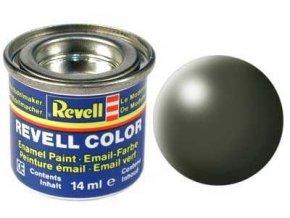 Revell - Barva emailová 14ml - č. 361 hedvábná olivově zelená (olive green silk), 32361