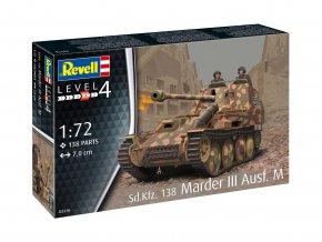 Revell - Sd. Kfz. 138 Marder III Ausf. M, Plastic ModelKit 03316, 1/72