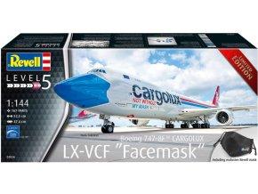 """Revell - Boeing B747-8F, CARGOLUX, LX-VCF """"Facemask"""", ModelKit 03836, 1/144"""