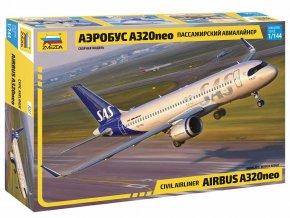Zvezda -  Airbus A320 NEO, Model Kit 7037, 1/144