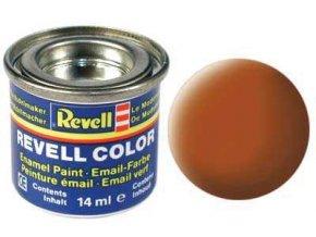 Revell - Barva emailová 14ml - č. 85 matná hnědá (brown mat), 32185