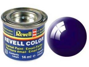 Revell - Barva emailová 14ml - č. 54 lesklá noční modrá (night blue gloss), 32154