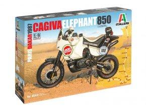 """Italeri - Cagiva """"Elephant"""" 850 Paris-Dakar 1987, Model Kit motorka 4643, 1/9"""