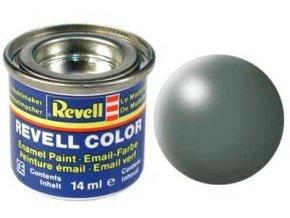 Revell - Barva emailová 14ml - č. 360 hedvábná zelená (green silk), 32360