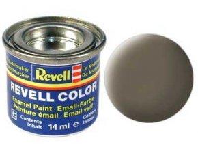 Revell - Barva emailová 14ml - č. 86 matná olivově hnědá (olive brown mat), 32186