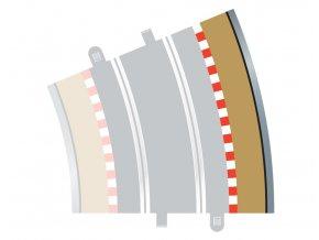 SCALEXTRIC - Rozšíření trati Border, Kerb & Barrier - Curve - R4 - 22.5DEG Outer, SCALEXTRIC C8238