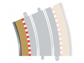 SCALEXTRIC - Rozšíření trati Border, Kerb & Barrier - Curve - R4 - 22.5DEG Inner, SCALEXTRIC C8282