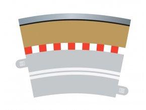 SCALEXTRIC - Příslušenství Border, Kerb & Barrier - Curve - R3.5 - 22.5 Deg Outer, SCALEXTRIC C7019