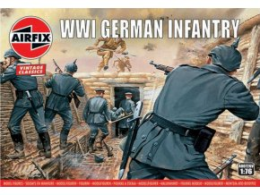 Airfix - WW1 German Infantry, Classic Kit VINTAGE figurky A00726V, 1/76