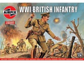 Airfix - WW1 British Infantry, Classic Kit VINTAGE figurky A00727V, 1/76
