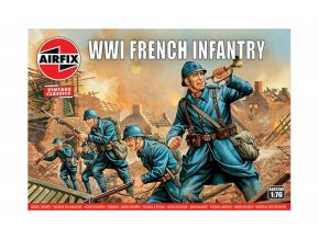 Airfix -  WW1 French Infantry, Classic Kit VINTAGE figurky A00728V, 1/76