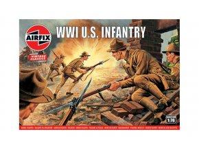 Airfix - WW1 U.S Infantry, Classic Kit VINTAGE figurky A00729V, 1/76