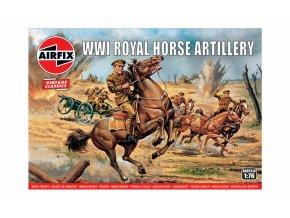 Airfix -  WW1 Royal House Artillery, Classic Kit VINTAGE figurky A00731V, 1/76