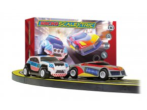 SCALEXTRIC - Autodráha Law Enforcer Mains Powered Race Set, MICRO SCALEXTRIC G1149P, 1/64