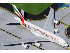 "Gemini - Airbus A380, společnost Emirates A6-EVB ""Year of Tolerance"" livery, SAE, 1/400"