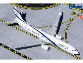 "Gemini - Boeing B737-900, dopravce El Al Israel Airlines 4X-EHD ""Peace"" titles above left cockpit window, Izrael, 1/400"