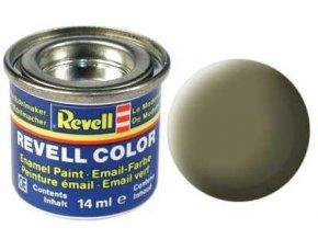 Revell - Barva emailová 14ml - č. 45 matná světle olivová (light olive mat), 32145