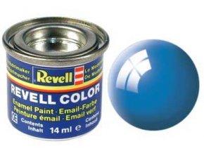 Revell - Barva emailová 14ml - č. 50 lesklá světle modrá (light blue gloss), 32150