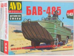 AVD Models - Obojživelné vozidlo BAV-485, Model kit 1352, 1/43