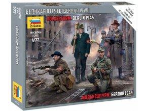 Zvezda - German Volkssturm, Wargames (WWII) figurky 6272, 1/72