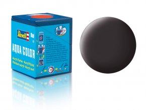 Revell - Barva akrylová 18 ml - č. 6  matná dehtově černá (tar mat), 36106