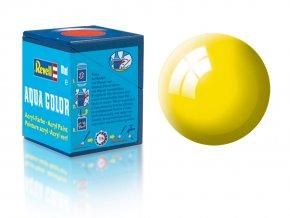 Revell - Barva akrylová 18 ml - č. 12 leská žlutá (yellow gloss), 36112